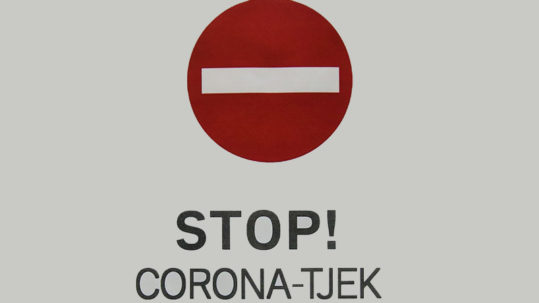 Stop. Corona-tjek